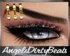 Gold eyebrow piercing R