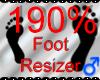 *M* Foot Resizer 190%