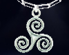Silver celtic Triskell