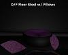 Purple Stool w/ Pillows