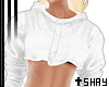 S~ Top Hoodie White