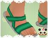+GRN Crocodile Sandals