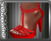 *O* Red Sandals