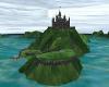 blue dark rock castle