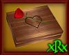 Wood Box w/Rose