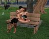 park bench kiss