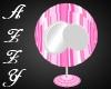 ~A~Pink Stripe Round Chr