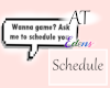 AT Schedule Bubble