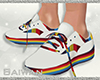 [Bw] Rainbow Sneakers M