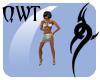 QWT Satin Slave White
