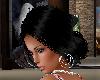 Black hair bun