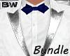 White Blue Art Suit BD