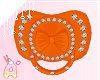 ! Orange Diamond Paci