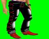 [AR]Black leather jeans