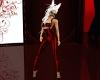 (1M) Red Latex Suit