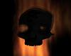 Obsidian Flaming Skull