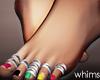 Rasta Feet Rings