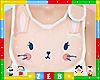 ✿ Kids Pink Bunny Bib
