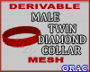 Male DDiamon Collar Mesh