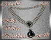 !a Blk Velvet Necklace