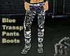 Blue Transp Pants&Boots