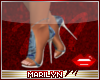 !MM Blue sequence heels