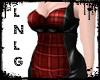 L:BBW Dress-PVCRebel-Red
