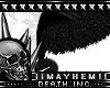 Goth  Santa Hat Black