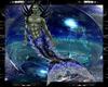 blue D merman tail M