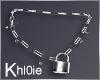 K silver  padlock neck