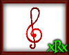 Note Treble Clef Red