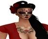Catrina hair black red