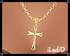 e Gold Cross Necklace