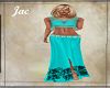 JAC..BOHO FIT SKIRT AQUA