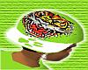 *CA* Green Tiger Hat
