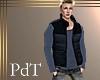 PdT Blk&Whale Puff Vest