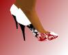 red white black heel
