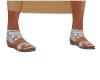 Silver Sandals & Toe Art