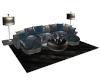 [DJ]Blue Leather Sofa