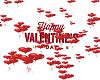 Falling Valentine Hearts