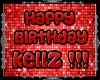Kellz bday hand balloon