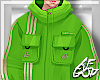 "Ⱥ"" Neon Lime Top"