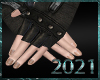 💀|Leather Biker Glove
