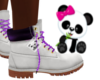 Kid White/ Purple Timbs