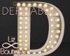 Luminous letter lamp D
