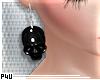 -P- PVC Skull Earr. v.2