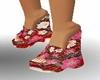 (KPR)Floral Wedge Sandal
