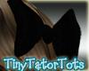 Kids Black Sequin Bow