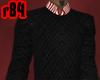 [r84] 112 BlkRed Sweater