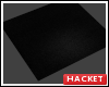 H@K Black Square Rug